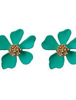 Недорогие -Жен. Классический Набор серьги - Цветы Мода Зеленый / Синий / Розовый Назначение Для вечеринок Повседневные