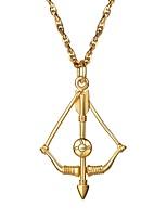 Недорогие -Муж. Классический Ожерелья с подвесками - Нержавеющая сталь Мода Золотой, Черный, Серебряный 55 cm Ожерелье Бижутерия 1шт Назначение Подарок, Повседневные
