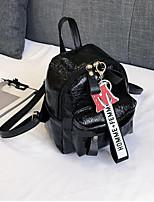 Недорогие -Жен. Мешки PU рюкзак Молнии Серебряный / Розовый / Цвет радуги