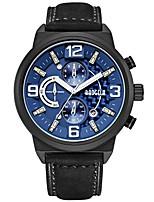Недорогие -BAOGELA Спортивные часы излучатели Защита от влаги, Календарь, Секундомер Черный / Черный / Синий / Японский / Натуральная кожа / Японский