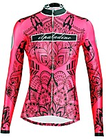 Недорогие -ILPALADINO Жен. Длинный рукав Велокофты - Красный Мода Велоспорт Верхняя часть Зима, Эластан