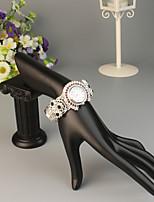 baratos -FEIS Mulheres Bracele Relógio Quartzo Prata Cronógrafo Analógico-Digital senhoras Fashion - Vermelho