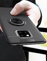 Недорогие -Кейс для Назначение Huawei Huawei Mate 20 Pro / Huawei Mate 20 Кольца-держатели Кейс на заднюю панель Однотонный Мягкий ТПУ для Mate 10 / Mate 10 pro / Mate 10 lite / Mate 9 Pro