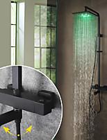 Недорогие -Смеситель для душа / Ванная раковина кран - Современный Окрашенные отделки На стену Керамический клапан