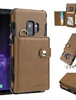 Недорогие -Кейс для Назначение SSamsung Galaxy S9 Plus / S9 Кошелек / Бумажник для карт / Защита от удара Кейс на заднюю панель Однотонный Мягкий ТПУ для S9 / S9 Plus