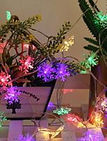 Недорогие -3M Гирлянды 20 светодиоды Разные цвета Декоративная Аккумуляторы AA 1 комплект