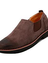 Недорогие -Муж. Комфортная обувь Полиуретан Осень На каждый день Мокасины и Свитер Дышащий Серый / Коричневый / Красный