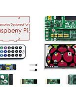 Недорогие -комплект аксессуаров (тип a) для малины pi, включая плату расширения dvk512, lcd, модули и кабели (малина pi не входит)