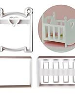Недорогие -Инструменты для выпечки пластик Творческая кухня Гаджет Торты Для приготовления пищи Посуда Формы для пирожных 3шт