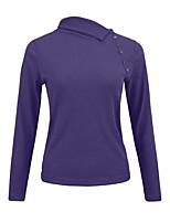 Недорогие -женская футболка - сплошной цветной воротник