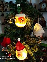 baratos -Luzes de Natal / Luz de Decoração / Enfeites de Natal Desenho PVC Redonda / Circular Festa / Novidades Decoração de Natal