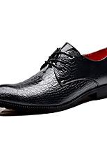 Недорогие -Муж. Официальная обувь Синтетика Весна & осень Деловые / На каждый день Туфли на шнуровке Нескользкий Черный / Синий / Винный