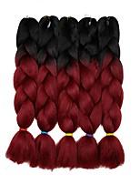 Недорогие -Волосы для кос Кудрявый Спиральные плетенки / Крупные косы / Дреды / Faux Locs Искусственные волосы 5 предметов косы волос Серый 24 дюймовый 60 см синтетический / Градиент / Горячая распродажа