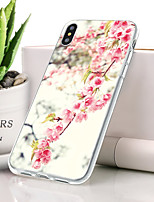 abordables -Coque Pour Apple iPhone XS Ultrafine / Motif Coque Fleur Flexible TPU pour iPhone XS
