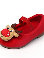Недорогие -Девочки Обувь Синтетика Наступила зима Удобная обувь На плокой подошве На эластичной ленте для Дети Красный / Черно-белый / Черный / Красный