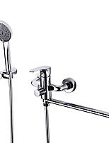 Недорогие -Смеситель для душа / Смеситель для ванны - Современный Хром На стену Медный клапан