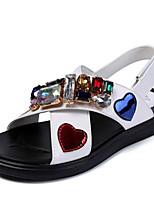 Недорогие -Мальчики / Девочки Обувь Лакированная кожа Весна Удобная обувь Сандалии для Дети Белый / Розовый