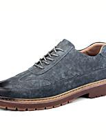 Недорогие -Муж. Обувь Bullock Полиуретан Осень На каждый день Туфли на шнуровке Дышащий Черный / Серый / Коричневый