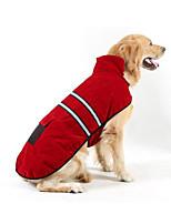 abordables -Chiens / Chats Anorak en Duvet Vêtements pour Chien Rayure Rouge Tissu Pelouche Costume Pour les animaux domestiques Unisexe Ordinaire / Loisir