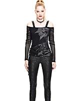 abordables -Gothique Steampunk Costume Femme Chemisier / Chemise Noir Vintage Cosplay Autre matériel Manches Longues Illusion