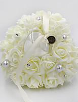 abordables -Fleur Satin Oreiller d'anneau Cœur Toutes les Saisons