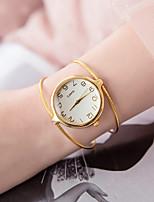 Недорогие -Жен. Часы-браслет Кварцевый Повседневные часы сплав Группа Аналоговый Мода минималист Серебристый металл / Золотистый - Серебряный Золотистый
