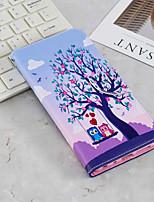 Недорогие -Кейс для Назначение SSamsung Galaxy J6 / J4 Кошелек / Бумажник для карт / со стендом Чехол Сова Твердый Кожа PU для J6 (2018) / J6 Plus / J4 (2018)