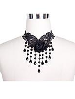 Недорогие -Жен. Старинный Струнные ожерелья - Черный 55.0  * 55.0  * 1.0 cm Ожерелье Бижутерия 1шт Назначение Свадьба, На выход