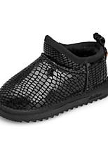 Недорогие -Девочки Обувь Кожа Зима Зимние сапоги Ботинки для Дети / Для подростков Черный / Розовый