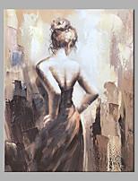 abordables -Peinture à l'huile Hang-peint Peint à la main - Abstrait / Personnage Classique / Moderne Sans cadre intérieur