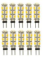 Недорогие -SENCART 10 шт. 3 W 180 lm G4 Двухштырьковые LED лампы T 13 Светодиодные бусины SMD 5050 Декоративная Тёплый белый / Белый / Красный 12 V