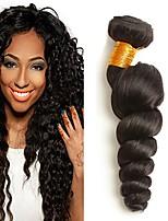 Недорогие -3 Связки Бразильские волосы Малазийские волосы Свободные волны 8A Натуральные волосы Необработанные натуральные волосы Головные уборы Человека ткет Волосы Сувениры для чаепития 8-28 дюймовый