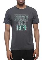 abordables -UABRAV Homme Col Ras du Cou Tee-shirt de Course Des sports Imprimé Hauts / Top Pour Course / Running, Fitness, Faire des exercices Manches Courtes Tenues de Sport Respirable, Séchage rapide