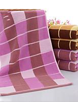 abordables -Qualité supérieure Serviette, Ecossais / à Carreaux Polyester / Coton Salle de  Bain 1 pcs