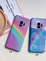 Недорогие -Кейс для Назначение SSamsung Galaxy S9 Plus / S9 Матовое / С узором Кейс на заднюю панель Градиент цвета Твердый ПК для S9 / S9 Plus / S8 Plus