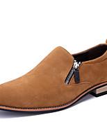 Недорогие -Муж. Кожаные ботинки Замша Осень Туфли на шнуровке Черный / Коричневый / Для вечеринки / ужина