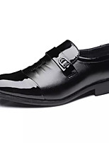 Недорогие -Муж. Комфортная обувь Полиуретан Осень Деловые Мокасины и Свитер Нескользкий Черный