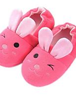 Недорогие -Девочки Обувь Замша Наступила зима Удобная обувь Тапочки и Шлепанцы для Дети Пурпурный