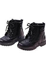 Недорогие -Девочки Обувь Кожа Наступила зима Ботильоны Ботинки для Дети (1-4 лет) Черный / Желтый