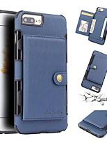 Недорогие -Кейс для Назначение Apple iPhone 8 / iPhone 8 Plus Кошелек / Бумажник для карт / Защита от удара Кейс на заднюю панель Однотонный Мягкий ТПУ для iPhone 8 Pluss / iPhone 8 / iPhone 7 Plus