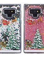 Недорогие -Кейс для Назначение SSamsung Galaxy Note 9 / Note 8 Защита от удара / Движущаяся жидкость / Прозрачный Кейс на заднюю панель Рождество Мягкий ТПУ для Note 9 / Note 8