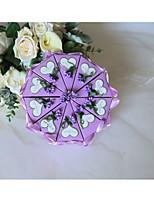 baratos -Redondo Silk como cetim / Arte de Papel Suportes para Lembrancinhas com Arco de Cetim / Coração Caixas de Ofertas / Caixas de Presente - 10pçs