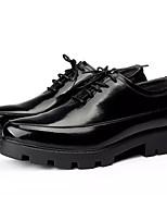Недорогие -Муж. Комфортная обувь Полиуретан Осень На каждый день Туфли на шнуровке Дышащий Черный / Серебряный / Винный