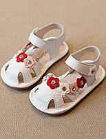 Недорогие -Мальчики / Девочки Обувь Кожа Лето Удобная обувь Сандалии для Дети Белый / Розовый