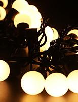 Недорогие -5 метров Гирлянды 40 светодиоды Тёплый белый Декоративная 220-240 V 1 комплект