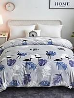 Недорогие -Трикотаж, Флокированные Мультипликация 100%микро волокно одеяла