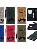 billiga -fodral Till Huawei Huawei Mate 20 Lite / Huawei Mate 20 Pro Plånbok / Korthållare / med stativ Fodral Panda Hårt PU läder för Mate 10 lite / Huawei Mate 20 lite / Huawei Mate 20 pro