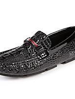 Недорогие -Муж. Кожаные ботинки Кожа Весна & осень На каждый день / Английский Мокасины и Свитер Массаж Черный