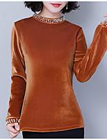 baratos -blusa de cashmere feminina - decote redondo em cor sólida
