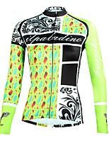 Недорогие -ILPALADINO Жен. Длинный рукав Велокофты - Цвет зеленой мяты Мода Велоспорт Верхняя часть Зима, Эластан